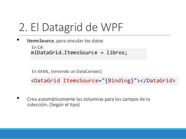 WPF 08 - manejo y vinculación de datos