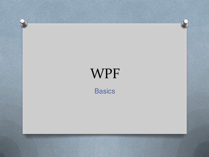 WPFBasics