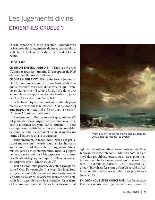 Les jugements divins´ETAIENT-ILS CRUELS ?                      ´               `                                          ...