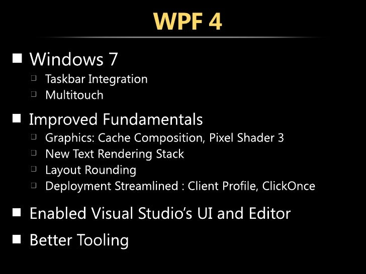 WPF 4 Series: Getting Started