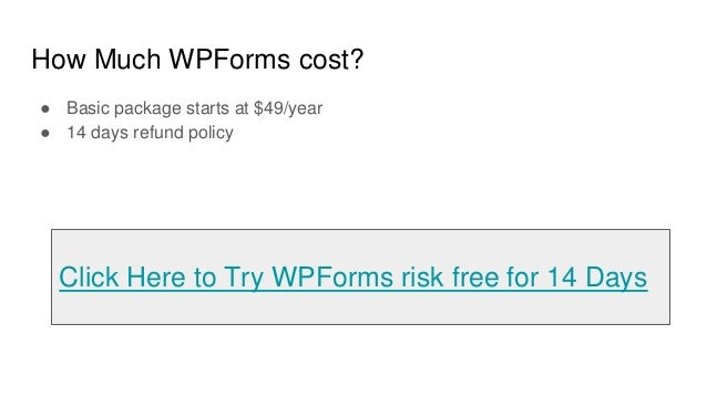 WPForms review - drag and drop word press form builder