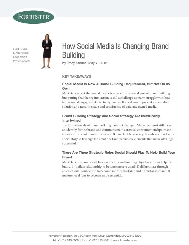 FOR: CMO                  How Social Media Is Changing Brand& MarketingLeadershipprofessionals                          Bu...