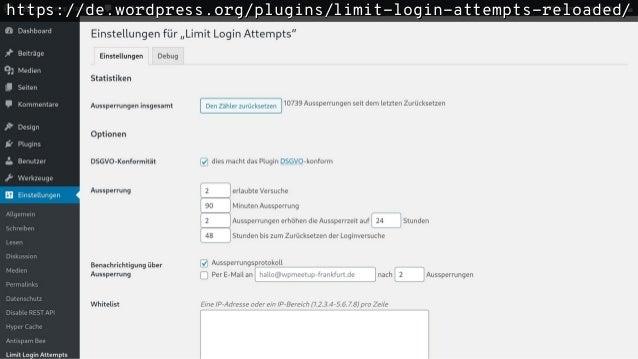 https://de.wordpress.org/plugins/limit-login-attempts-reloaded/https://de.wordpress.org/plugins/limit-login-attempts-reloa...