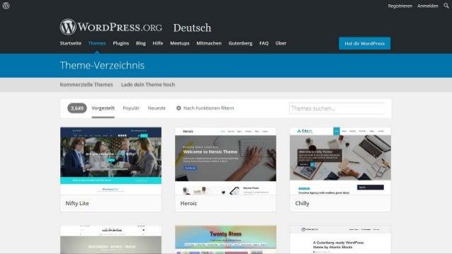 Das richtige WordPress-Theme finden Slide 2