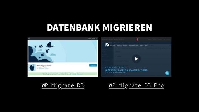 DATENBANK MIGRIEREN WP Migrate DB WP Migrate DB Pro