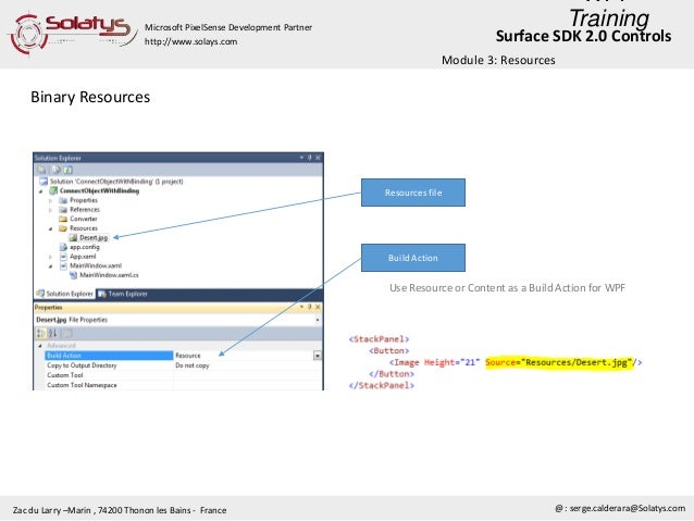 Wpf training & surface sdk 2 0 controls