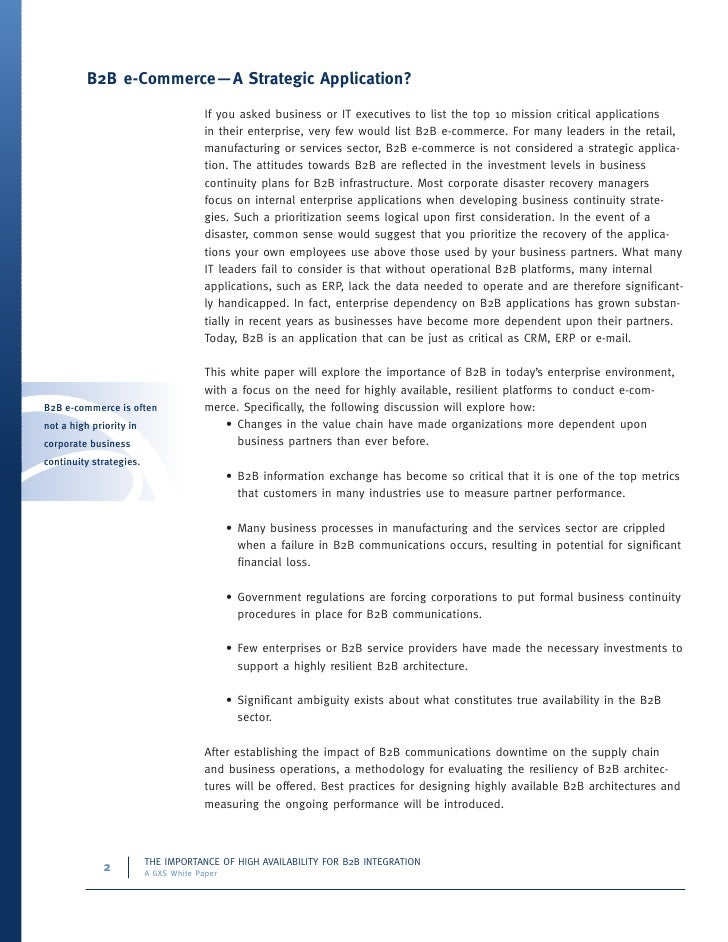 thesis on b2b ecommerce 2 management summary this thesis brings together the topics of e-commerce strategy, high-tech entrepreneurial firms, b2b strategy, internationalization, and.