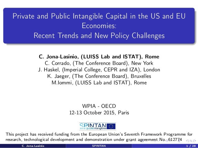 Private and Public Intangible Capital in the US and EU Economies: Recent Trends and New Policy Challenges C. Jona-Lasinio,...