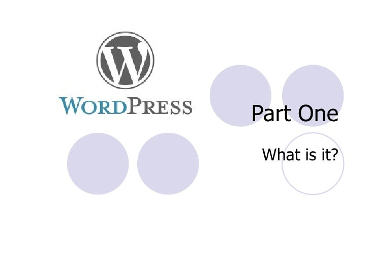 Introduction to WordPress slideshare - 웹
