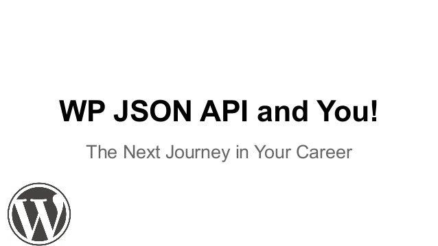 WP JSON API and You! The Next Journey in Your Career