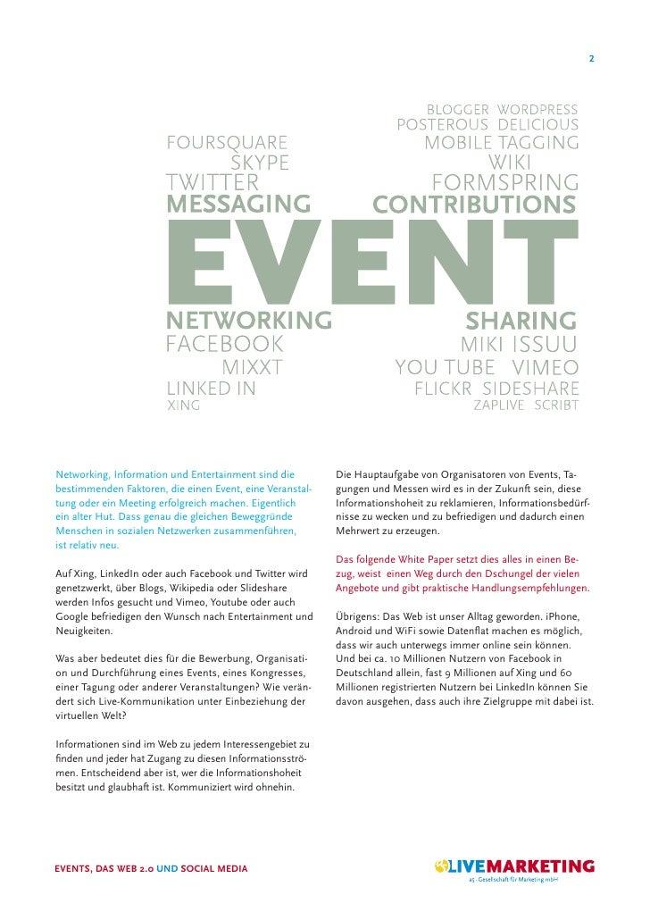 2     Networking, Information und Entertainment sind die        Die Hauptaufgabe von Organisatoren von Events, Ta- bestimm...