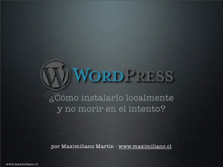 WordPress en servidor local