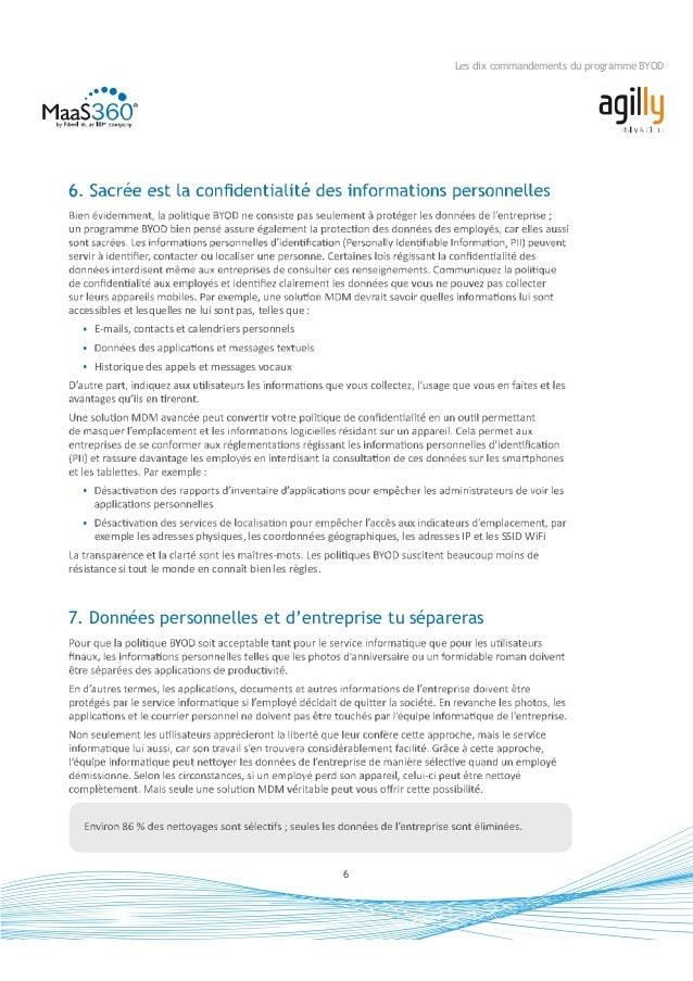 7 Les dix commandements du programme BYOD 8. Automatiquement tu contrôleras groupes et individus quelques problèmes couran...