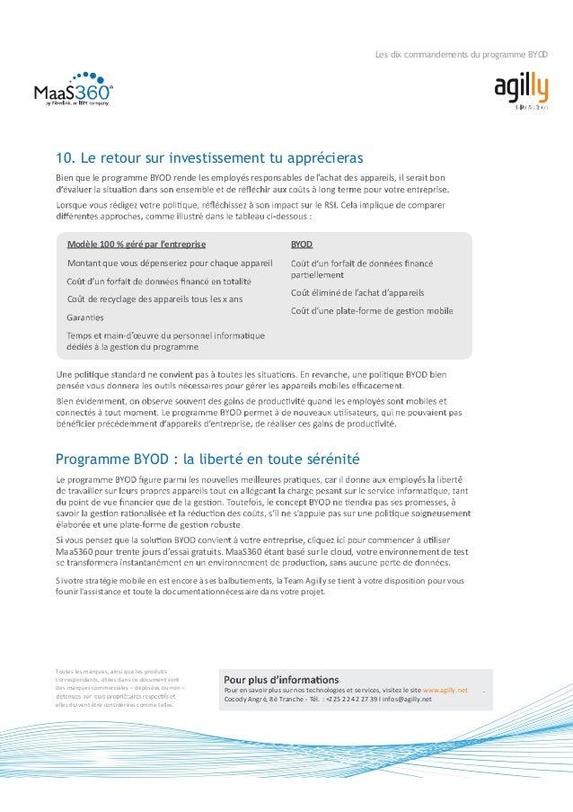 Mobilité d'Entreprise : Les 10 Commandements du BYOD