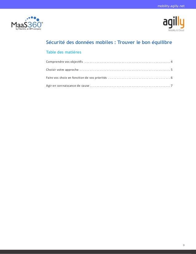 Sécurité des données mobiles : Trouver le bon équilibre Slide 3
