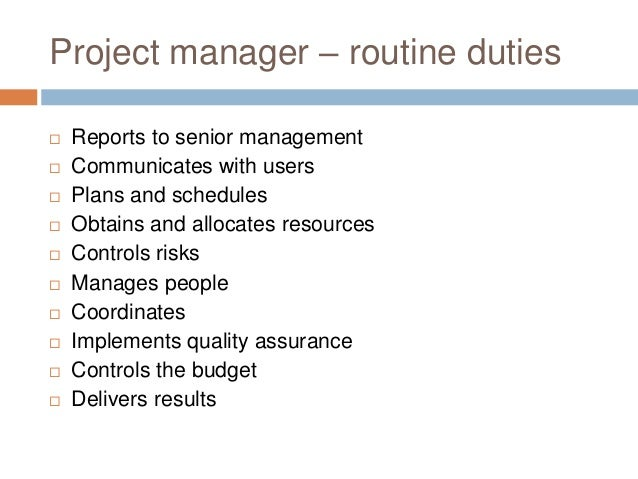 project manager duties