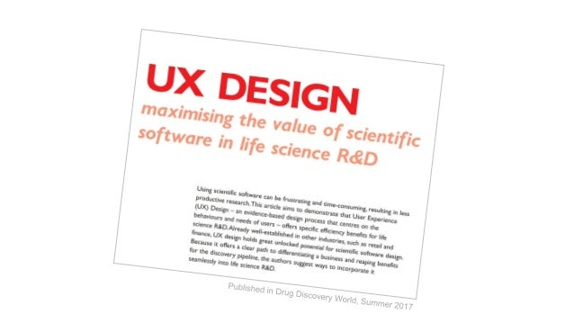 Advancing drug discovery and gaining competitive advantage through user experience (UX)