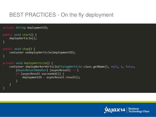Real World Enterprise Reactive Programming using Vert x