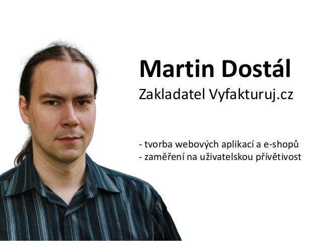 Automatizovaný prodej Vašich produktů z WordPressu s aplikací SimpleShop, Martin Dostál Slide 2