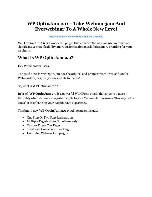 WP OptinJam 2.0 Review & GIANT Bonus