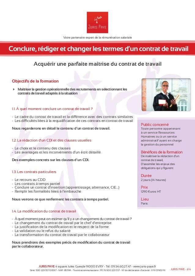 Votre partenaire expert de la rémunération salariale  Conclure, rédiger et changer les termes d'un contrat de travail  Acq...