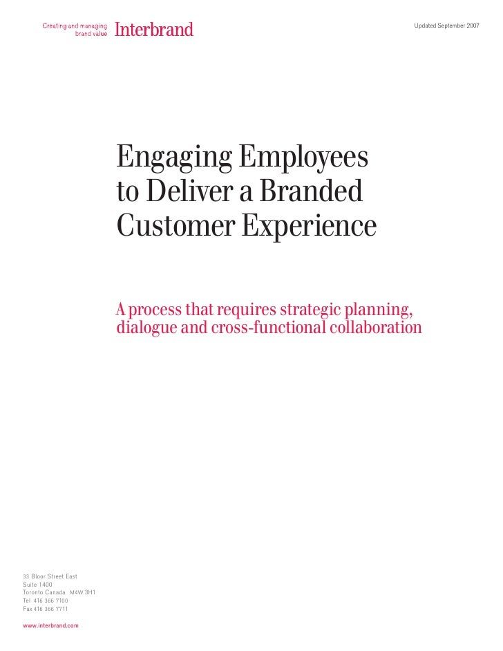 Engaging Employees to Deliver a Branded Customer Experience