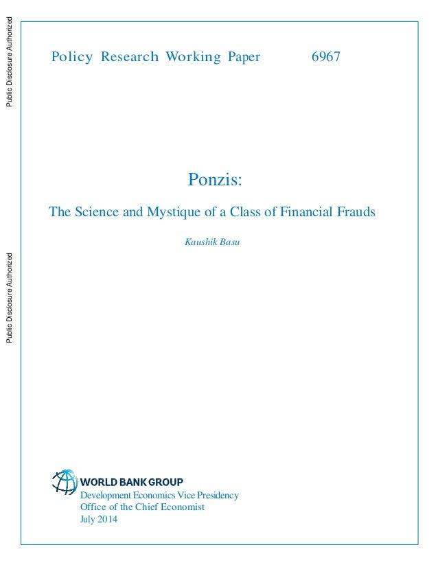 ponzi scheme research paper William l quisenberry ponzi of all ponzis: critical analysis of the bernie madoff scheme international journal of econometrics and financial management.