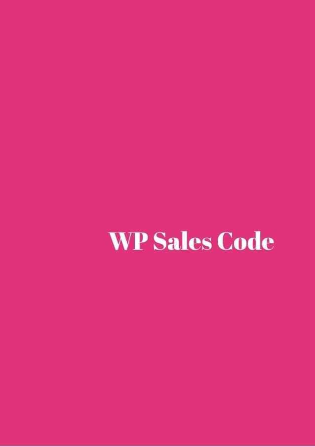 WP Sales Code