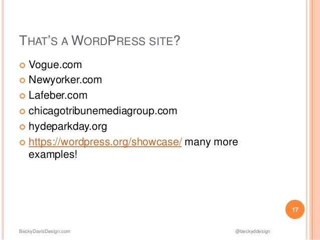 Take Control of Your Site w/ WordPress slideshare - 웹