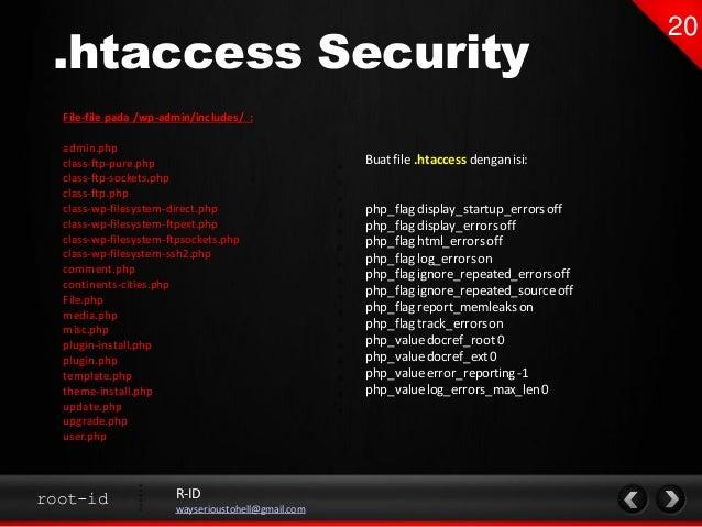 Wordpress Security Optimization (Basic) slideshare - 웹