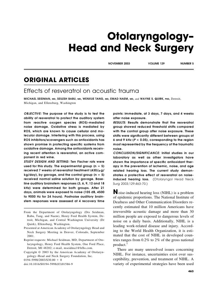 Otolaryngology–                                 Head and Neck Surgery                                                     ...