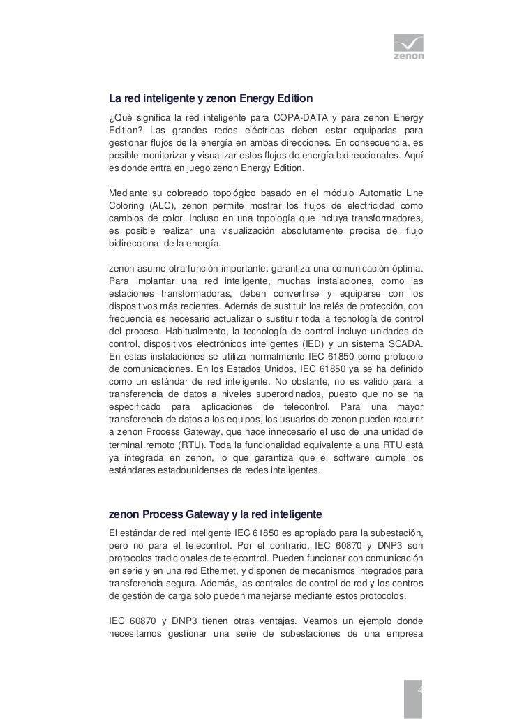 La red inteligente y zenon Energy Edition¿Qué significa la red inteligente para COPA-DATA y para zenon EnergyEdition? Las ...