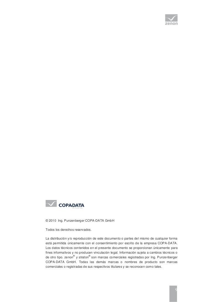 © 2010 Ing. Punzenberger COPA-DATA GmbHTodos los derechos reservados.La distribución y/o reproducción de este documento o ...