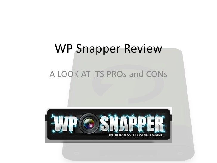 WP Snapper ReviewA LOOK AT ITS PROs and CONs