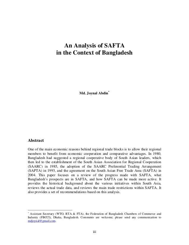 SAARC - Establishment, Achievements and Limitations