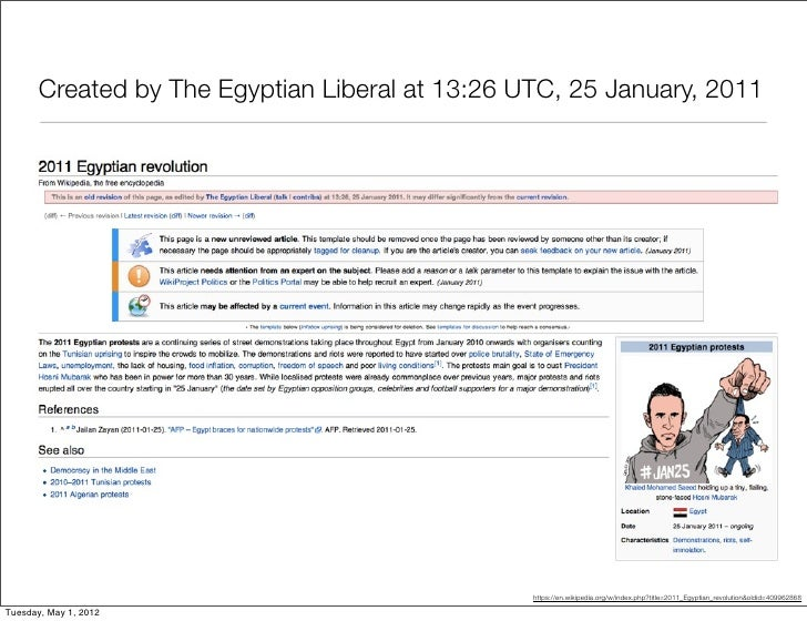 Created by The Egyptian Liberal at 13:26 UTC, 25 January, 2011                                                 https://en....