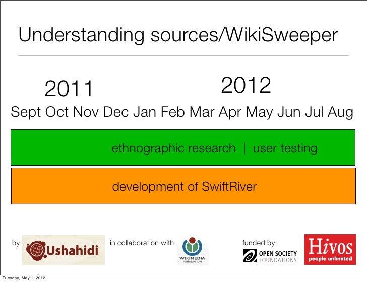 Understanding sources/WikiSweeper                   2011                            2012   Sept Oct Nov Dec Jan Feb Mar Ap...