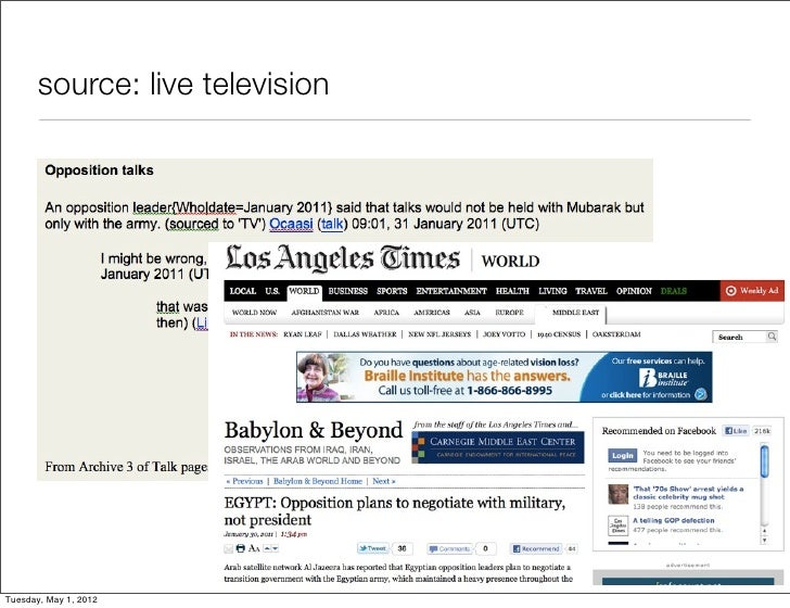 source: live televisionTuesday, May 1, 2012