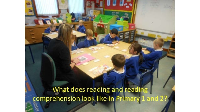What does reading and reading comprehension look like in Primary 1 and 2?