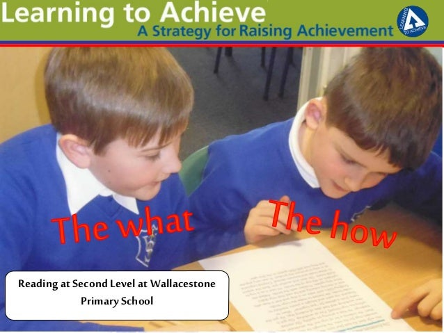 Reading at Second Level at Wallacestone PrimarySchool