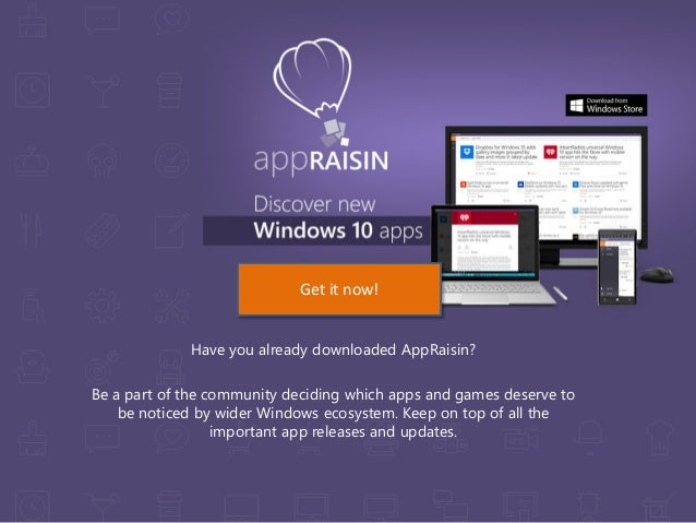 Have you already downloaded AppRaisin? Be a part of the community deciding which apps and games deserve to be noticed by w...