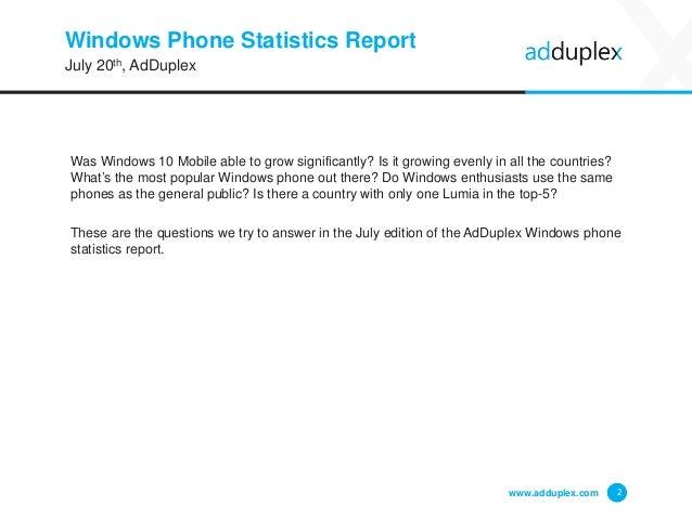 AdDuplex Windows Phone Device Statistics Report  Slide 2