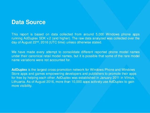 AdDuplex Windows Device Statistics Report – August, 2016 Slide 3