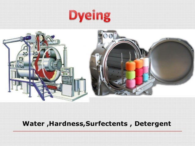 Water ,Hardness,Surfectents , Detergent