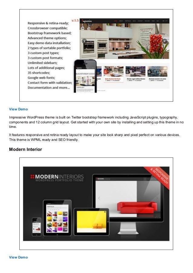 30+ Best Interior Design WordPress Themes