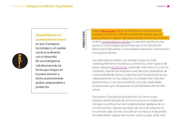 Según Ray Kurzweil, figura de referencia en el campo de la inteligencia artificial y jefe de ingeniería de Google, apenas ...