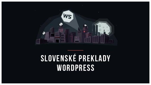 Slovenské preklady WordPress