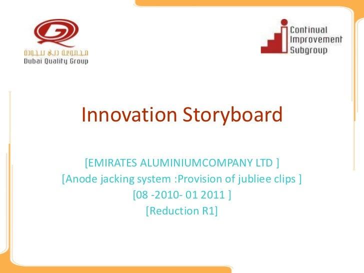 Innovation Storyboard    [EMIRATES ALUMINIUMCOMPANY LTD ][Anode jacking system :Provision of jubliee clips ]              ...