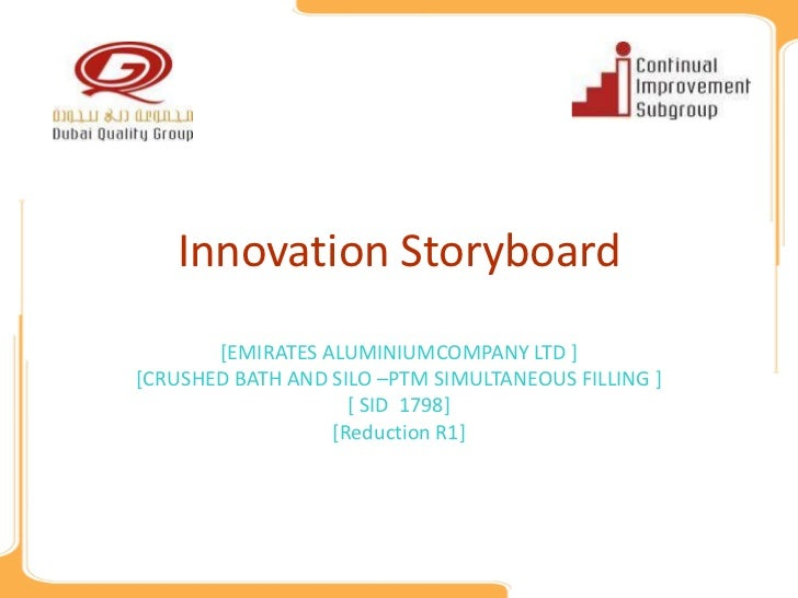Innovation Storyboard       [EMIRATES ALUMINIUMCOMPANY LTD ][CRUSHED BATH AND SILO –PTM SIMULTANEOUS FILLING ]            ...