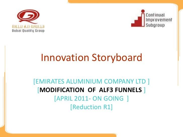 Innovation Storyboard[EMIRATES ALUMINIUM COMPANY LTD ] [MODIFICATION OF ALF3 FUNNELS ]      [APRIL 2011- ON GOING ]       ...